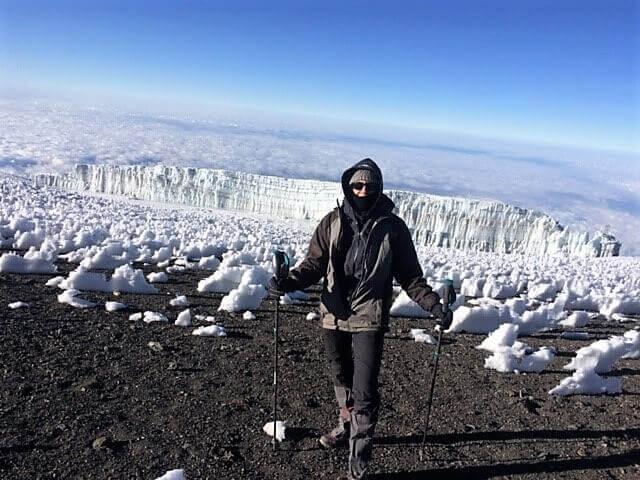 Glaciers visible on Kibo