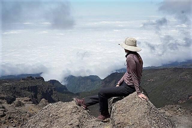 Rees at Barranco wall, Mount Kilimanjaro