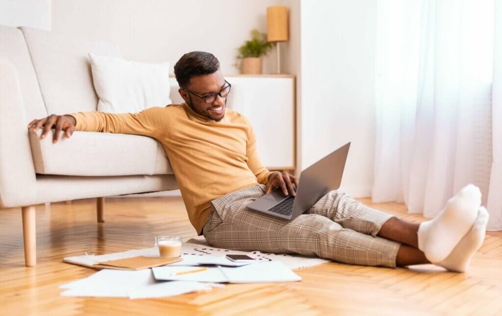 guy working on laptop