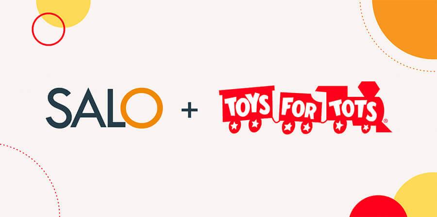 Salo logo plus Toys for Tots logo